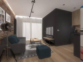 Mieszkanie w Warszawie Nowoczesny salon od Autorska Pracownia Architektury Trojanowscy Nowoczesny