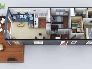 2D & 3D House Floorplans by Yantram architectural studio - Miami, USA Yantram Architectural Design Studio Klasik