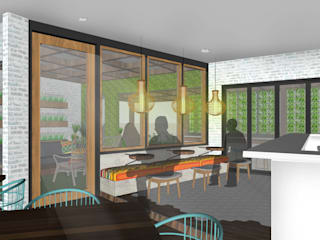 SAE Office & Kecik Kitchen I Concept Tropical style dining room by SAE Studio (PT. Shiva Ardhyanesha Estetika) Tropical