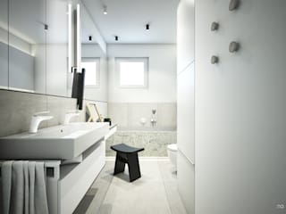 Minimalist style bathroom by NA NO WO ARCHITEKCI Minimalist
