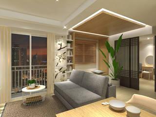Trivium Apartment (3BR) Modern Living Room by SAE Studio (PT. Shiva Ardhyanesha Estetika) Modern