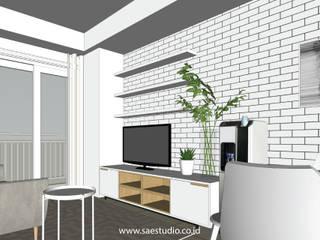 Salas de estilo escandinavo de SAE Studio (PT. Shiva Ardhyanesha Estetika) Escandinavo