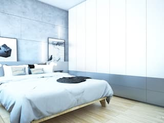 Minimalist bedroom by NA NO WO ARCHITEKCI Minimalist