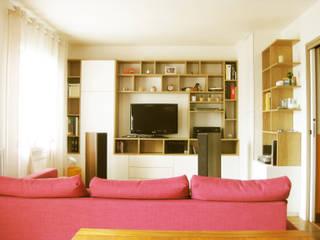 Réaménagement d'une maison Salon moderne par One look inside Moderne