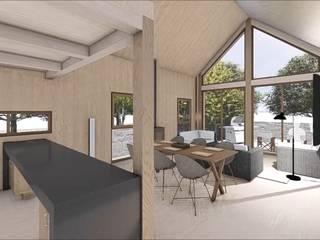 CASA DE CAMPO PATAGUAL: Cabañas de estilo  por Sociedad Comercial & Ingeniería ING Spa.
