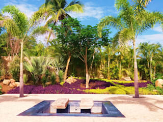 : tropical Garden by PaisajesyAmbientes