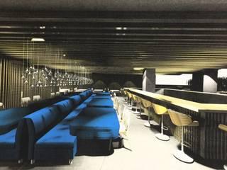 Salão e bar:   por AL Interiores