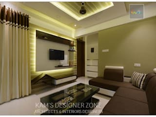 Interior Designing For Mr. Prashant Paraswar: Modern Living Room By KAMu0027S  DESIGNER ZONE