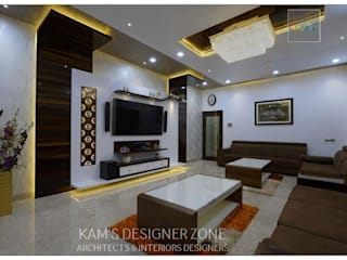 Living Room Interior Design Of Mr. Zeeshan Sayyed: Modern Living Room By  KAMu0027S DESIGNER