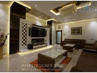 Living Room Interior Design of Mr. Zeeshan Sayyed Modern living room by KAM'S DESIGNER ZONE Modern