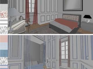 Dormitorios.: Dormitorios de estilo  de RR Estudio Interiorismo