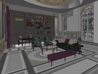 Salón principal.: Salones de estilo  de RR Estudio Interiorismo