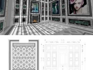 Salón de lectura.: Salones de estilo  de RR Estudio Interiorismo