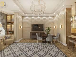 Дизайн четырехкомнатной квартиры в стиле неоклассика: Спальни в . Автор – Группа Компаний 'Фундамент'