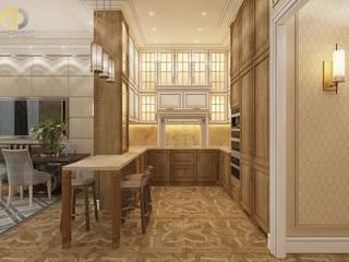Дизайн четырехкомнатной квартиры в стиле неоклассика: Гостиная в . Автор – Группа Компаний 'Фундамент'
