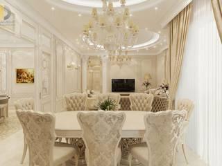 Дизайн интерьера квартиры 115 кв. м в классическом стиле: Столовые комнаты в . Автор – Группа Компаний 'Фундамент'