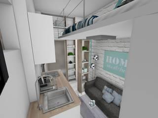 Pièce principale: Salon de style de style Moderne par Crhome Design