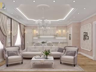 Дизайн трехкомнатной квартиры 115 кв. м: Гостиная в . Автор – Группа Компаний 'Фундамент'