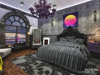 Малая Бронная : Спальни в . Автор – Дизайн - студия  Modern View,