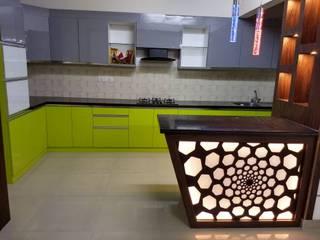 Salarpuria Greenage Modern kitchen by 12 Square Interiors Modern