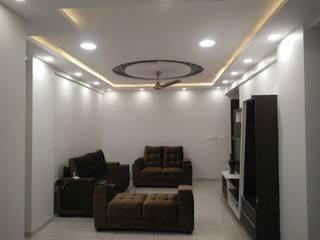 2bhk at Samprasiddhi GreenEdge Modern living room by 12 Square Interiors Modern