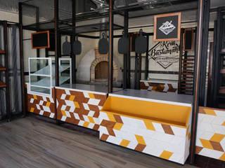 Diseño de cafeterías | Mobiliario para cafetería | Decoración para cafetería: Espacios comerciales de estilo  por B&Ö Arquitectura interior y muebles | Diseño de bares y restaurantes / Interiorismo y Decoración México.