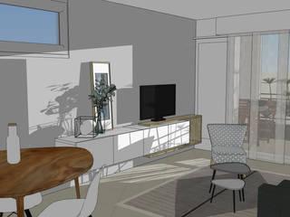 Séjour // Appartement La Garenne-Colombes: Salle à manger de style de style Scandinave par FABRIQUE D'ESPACE