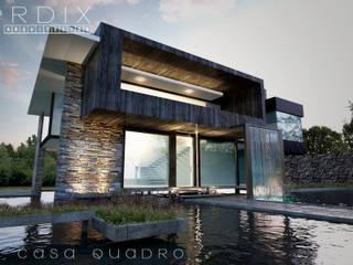 CASA QUADRO: Casas de campo de estilo  por Perdix Arquitectos