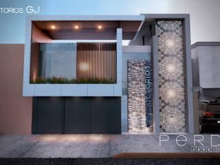 Estudios y oficinas modernos de Perdix Arquitectos Moderno Aluminio/Cinc