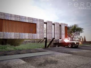 Estudio Oficinas: Oficinas y tiendas de estilo  por Perdix Arquitectos