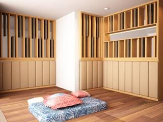 interior cluster aeroworld 8 citra, cengkareng jakarta barat:  Ruang Keluarga by Livint design