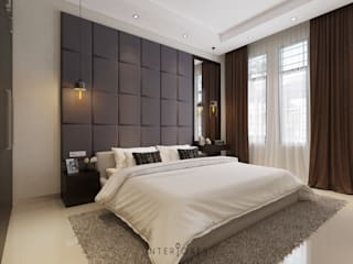 Headboard:   by INTERIORES - Interior Consultant & Build