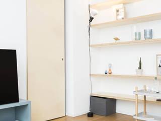 Livings de estilo escandinavo de studio wok Escandinavo
