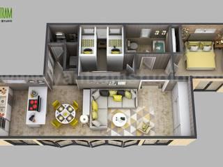 3d House Floor plan Designs, ideas, Images By Yantram 3d animation studio - Atlanta, USA Yantram Architectural Design Studio Modern