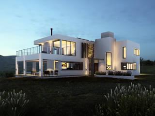 FRENTE CASA TIERRA VIRGEN: Casas de estilo minimalista por mgt_Estudio de  Arquitectura + Diseño