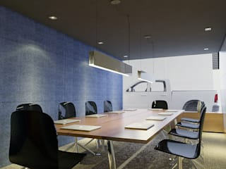 Gilberto Cardoso interiores Ruang Studi/Kantor Modern