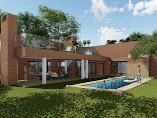 Residence Benvenuti - Entertainment Patio Alteration and Extension:  Patios by Pieter Pieters Architect