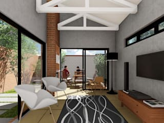 Residence Benvenuti - Outbuilding Conversion into Cottage: modern Living room by Pieter Pieters Architect