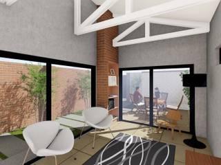 Projekty,  Salon zaprojektowane przez Pieter Pieters Architect, Nowoczesny