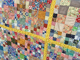 Patchwork Quilt handstitched from reclaimed vintage fabric scraps Rural Retro 家居用品布織品