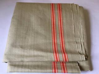 Vintage Linen Continental Table runner. Rural Retro HouseholdTextiles