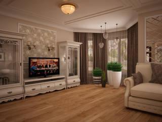 дизайн-бюро ARTTUNDRA Living room Beige