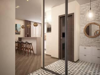 дизайн-бюро ARTTUNDRA Minimalist corridor, hallway & stairs Beige