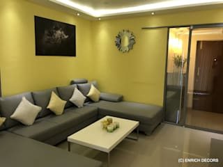 Nitesh Flushing Meadows - 3BHK -1560sqft - Fully Furnished Modern living room by Enrich Interiors & Decors Modern