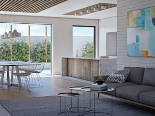 Esterdale Luxury Estate:  Living room by Cleo Architecture Studio,
