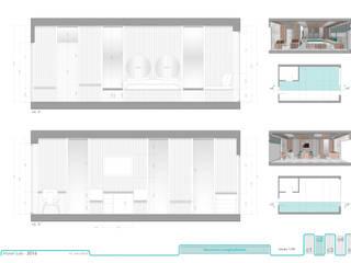 Secciones habitación hotel.:  de estilo  de RR Estudio Interiorismo