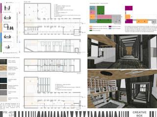 Vestíbulo de acceso donde el material principal es el mármol negro y la madera.:  de estilo  de RR Estudio Interiorismo