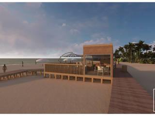 # APOIO PRAIA | BEACH SHACK Casas modernas por FERREIRARQUITETOS Moderno
