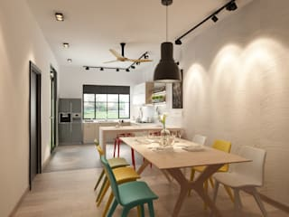 :  Dining room by Jannovative Design
