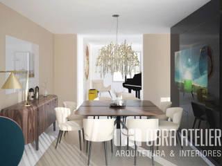Projeto de Arquitetura & Interiores Chave-na-Mão:   por OBRA ATELIER - Arquitetura & Interiores
